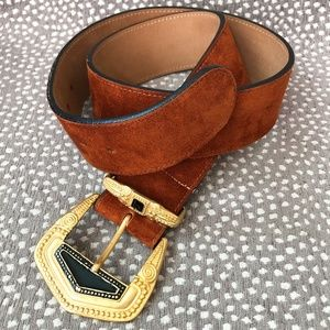 Vintage Streets Ahead Burnt Orange Belt